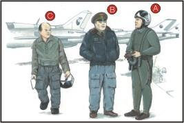 Warsaw Pact Pilots (3 fig.)