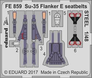 Su-35 Flanker E seatbelts STEEL 1/48