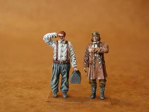 RFC Pilot + Mechanic WW I (2 fig.)
