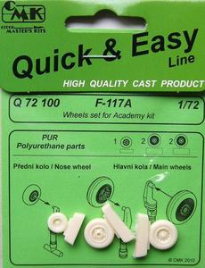 F 117A Wheels for ACA kit