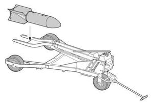 Bomb trolley for Ju 87 and Fw 190