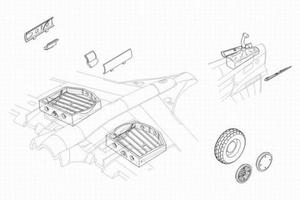 P-40E Warhawk - undercarriage set for HAS