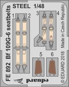 Bf 109G-6 seatbelts STEEL 1/48