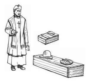 Military Chaplain+Coffin & Chaplet (1 fig.)