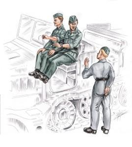 German driver and personal for FAMO (3 fig.)