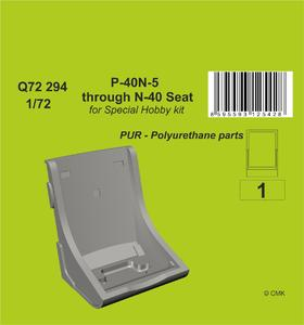 1/72 P-40N-5 through N-40 Seat for Special Hobby kits  - 1