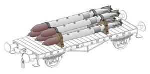 WW II German Torpedoes incl.transport chocks