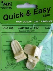 Junkers Ju 88A Seats for Revell kit
