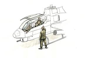 1/72 AH-1 Sitting pilots (2 figures) and ground crew (1 figure) for Special Hobby  - 1
