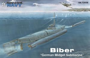 "Biber ""German Midget Submarine"" 1/72  - 1"