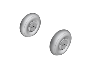 Reggiane Re 2005 Main Wheels  - 1