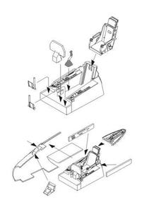 F-86F Sabre – Interior set for Airfix kit