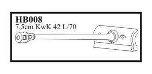 7,5 cm KwK 42 L/70 with late mantlet & muzzl