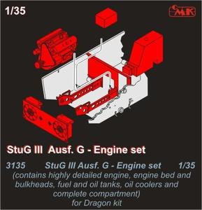 StuG III Ausf.G - Engine set for Drag. Kit