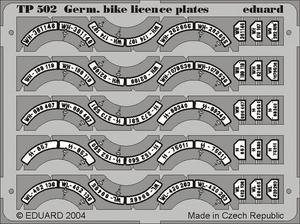 German Bike Licence Plates