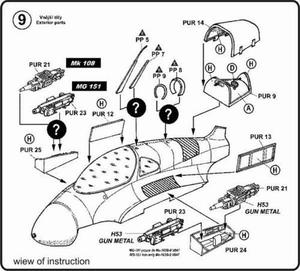 Me-163B - detail set for REV