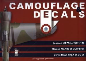 Camouflage and Decals Caudron CR.714; Morane Ms.406;Curtiss Hawk H75A 1/32  - 1