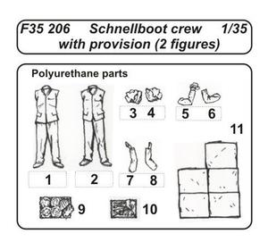 Schnellboat Crew -with provision 2 fig