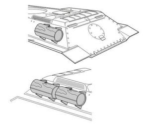 T-34/85 External fuel tanks for REV.