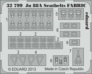 Ju 88A seatbelts FABRIC