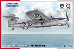 Fairey Barracuda Mk.III 'ASV Mk.XI Radar' 1/72  - 1