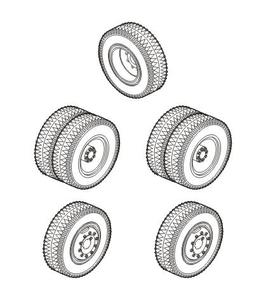 SS-100 Gigant - Wheels for Special Armour kit