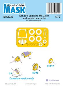 DH.100 Vampire Mk.3/5/9 and export variants MASK
