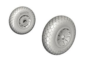 P-51D Mustang Wheels (Oval Tread Pattern)  - 1