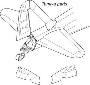 A6M2/A6M5 Zero - tail cone for TAM