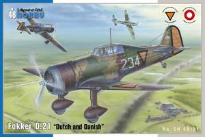 "Fokker D.21 ""Dutch and Dannish"" 1/48  - 1"