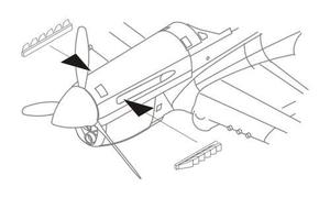 P-40E Exhausts for Aca/Airf./Has/Hobby Boss