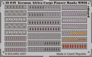 German Africa Corps Panzer Ranks WWII