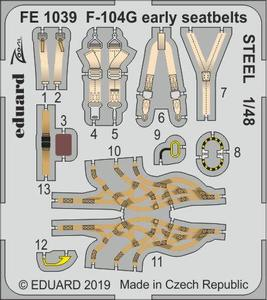 F-104G early seatbelts STEEL 1/48