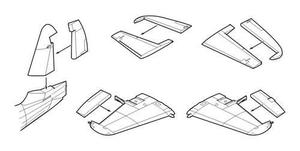 Westland Wyvern S.4 Control surfaces for Trum