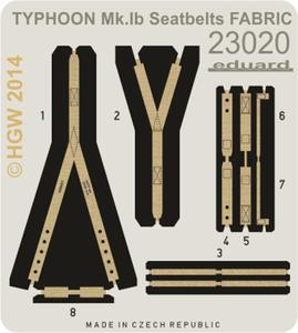 Typhoon Mk.Ib seatbelts FABRIC  1/24