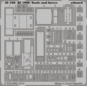 Bf 109E tools and boxes