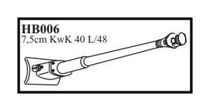 7,5 cm KwK 40 L/48 with mantlet & late muzzl