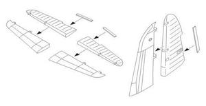 Martin B-26F/G control surfaces set for HAS