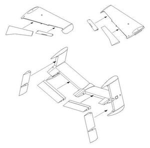 He 162A-2 Control surfaces set for TAM kit