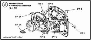 Ju 52/3m - engine set for REV/MON (BMW-132)