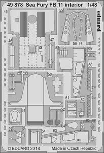 Sea Fury FB.11 interior 1/48