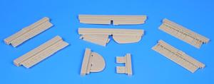 P-40B/C – Control surfaces for Airfix kit