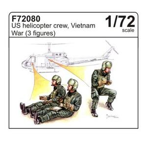 U.S. helicopter crew, Vietnam War (3 fig.)