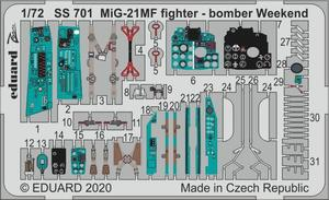 MiG-21MF fighter-bomber Weekend 1/72