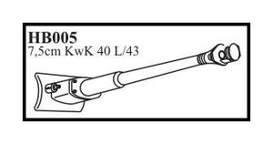 7,5 cm KwK 40 L/43 with mantlet & late muzzl