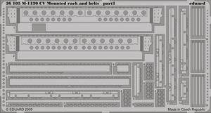M-1130 CV Mounted rack and belts