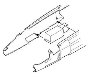 TSR-2 Nose Undercarriage bay for Airfix kit