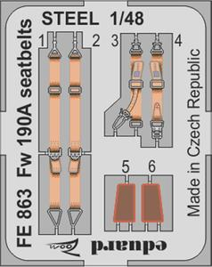 Fw 190A seatbelts STEEL 1/48