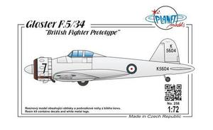 Gloster F.5/34 British Fighter Prototype  - 1