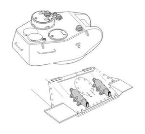 T-34/85 Exhaust and periscopes